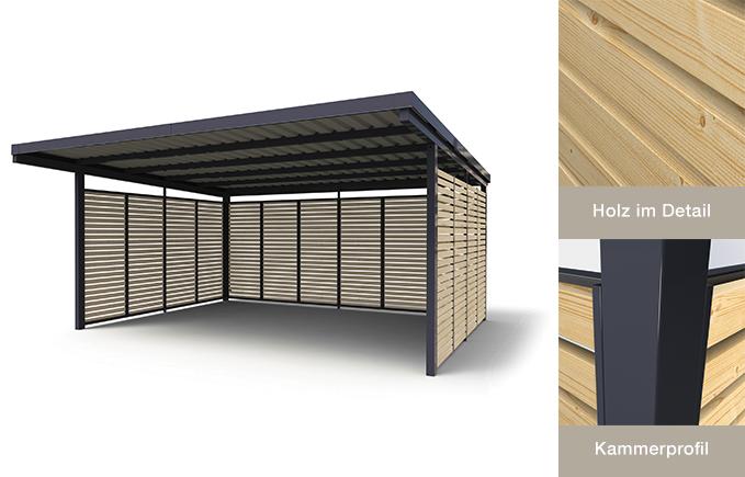 modularer carport. Black Bedroom Furniture Sets. Home Design Ideas